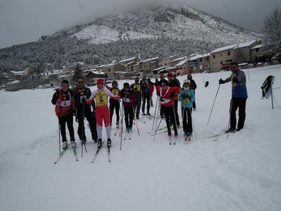 Les participants à la course-relais de dimanche 24 février